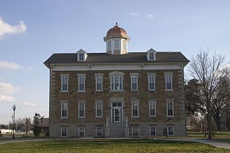 Ottawa University - Tauy Jones Hall is Ottawa University's oldest building, built in 1869.