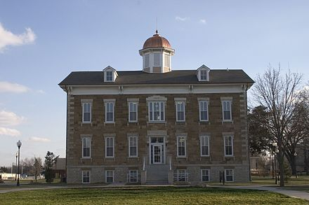 Tauy Jones Hall is Ottawa University's oldest building, built in 1869. Tauy Jones close1.jpg