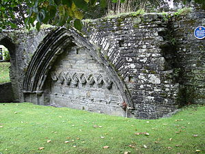 Tavistock Abbey - Remains of the cloister arches