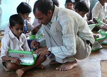 Teacher and student, Khairat (India)