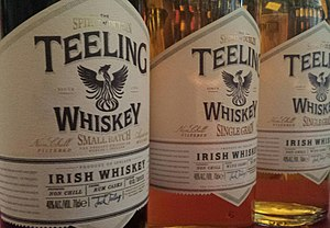 Teeling Distillery - Bottles of Small Batch and Single Grain Teeling Irish Whiskey