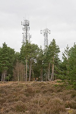 Telecommunication masts on top of St Catherine's Hill, Christchurch - geograph.org.uk - 747011