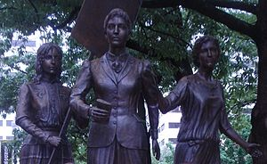 Tennessee Woman Suffrage Memorial - Left to right: Elizabeth Avery Meriwether, Lizzie Crozier French, and Anne Dallas Dudley