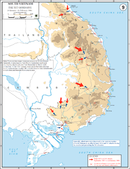 Tet Offensive map