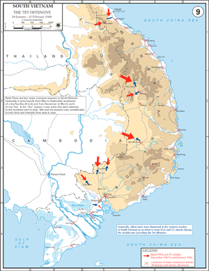 Map Of Asia During Vietnam War.Tet Offensive Wikipedia