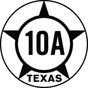 Texas State Highway 10 - Image: Texas Hist SH10A