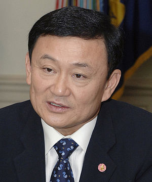 Thailand's Prime Minister Thaksin Shinawatra i...