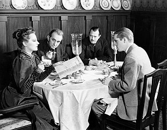 The Little Foxes - Tallulah Bankhead, Charles Dingle, Carl Benton Reid and Dan Duryea in the original Broadway production of The Little Foxes (1939)