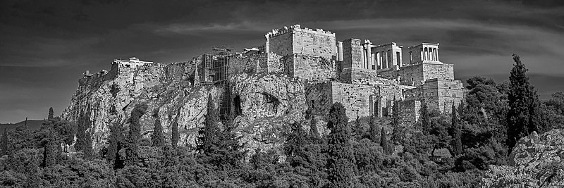 File:The Acropolis of Athens from the Areopagus on April 26, 2020.jpg