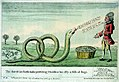 The American Rattlesnake presenting Monsieur his Ally a Dish of Frogs (caricature) RMG PW3978.jpg