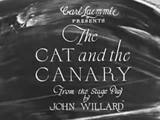 Image result for The Cat and the Canary 1927 Flora Finch