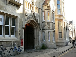 Brian Josephson - Entrance to the old Cavendish Laboratory on Free School Lane, Cambridge.