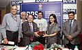 The Chairman, Board of Reconstruction of Public Sector Enterprises (BRPSE), Dr. Nitish Sengupta presenting the BRPSE Turnaround Award 2013 to the MD, National Film Development Corporation Ltd., Ms. Nina Lath Gupta.jpg