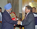 The Chief Minister of Arunachal Pradesh, Shri Gegong Apang meeting with the Deputy Chairman, Planning Commission Dr. Montek Singh Ahluwalia to finalize annual plan 2005-06 of the State in New Delhi on February 15, 2005.jpg