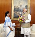 The Chief Minister of West Bengal, Ms. Mamata Banerjee calls on the Prime Minister, Shri Narendra Modi, in New Delhi on April 10, 2017.jpg