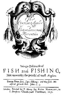 <i>The Compleat Angler</i> book about fishing, 1653 London