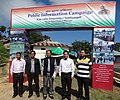 The DC, Lawngltai District, Shri J. Hmingthanmawia during the Public Information Campaign, at Bungtlang South, Indo-Myanmar Border Village, Lawngtlai, in Mizoram on November 13, 2014.jpg