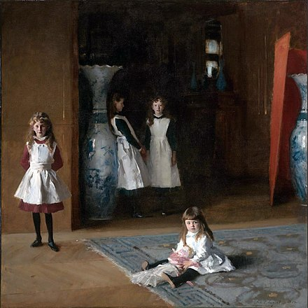 The Daughters of Edward Darley Boit, 1882, Museum of Fine Arts, Boston The Daughters of Edward Darley Boit, John Singer Sargent, 1882 (unfree frame crop).jpg