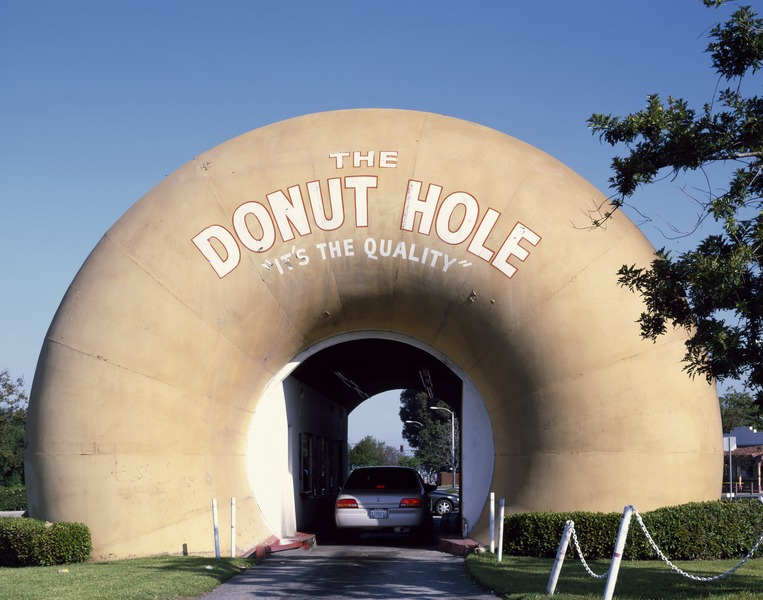The Donut Hole drive-through stand in La Puente in Los Angeles County, California 15467u