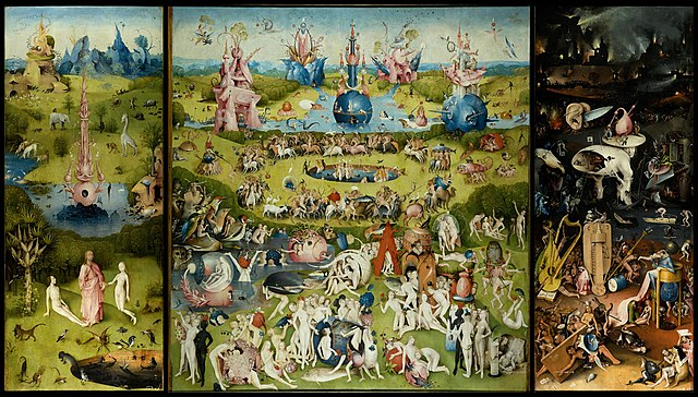 Hieronymus Bosch's artwork, 'The Garden of Earthly Delights'