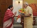 The Governor of Himachal Pradesh, Smt. Urmila Singh calls on the Prime Minister, Shri Narendra Modi, in New Delhi on June 28, 2014.jpg