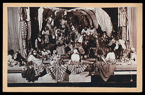 """Romen Theatre - An undated photo depicting """"The Gypsy Theatre"""" in the USSR, from the New York Public Library's Billy Rose Theatre Collection."""