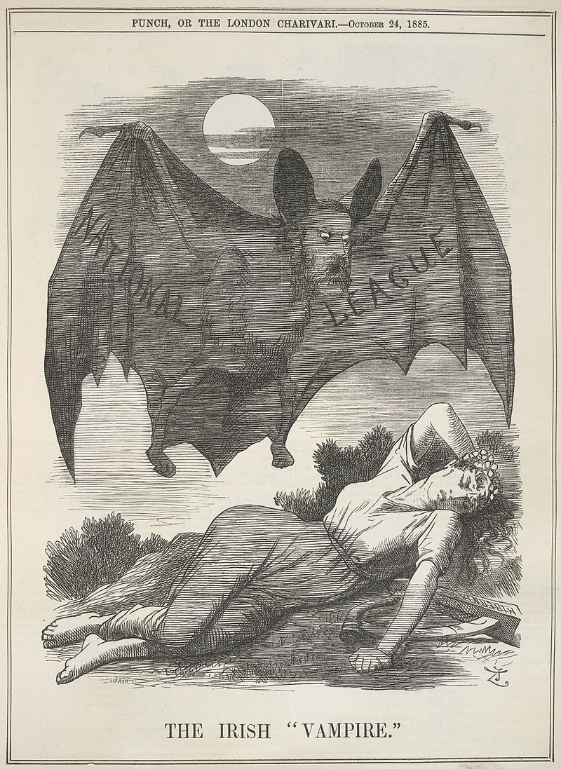 The Irish Vampire - Punch (24 October 1885), 199 - BL.jpg