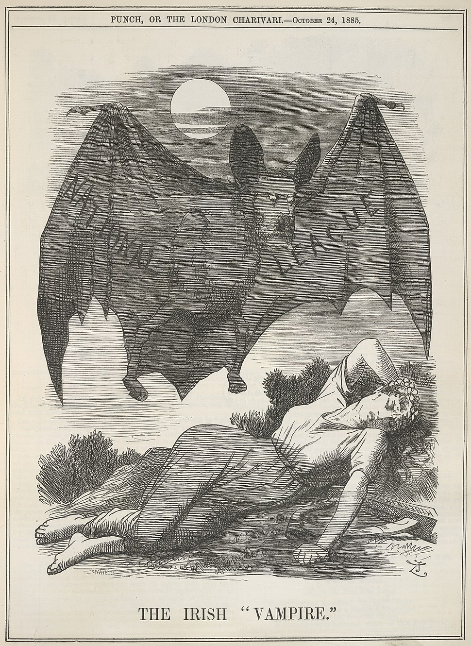 The Irish Vampire - Punch (24 October 1885), 199 - BL