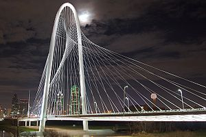 Margaret Hunt Hill Bridge - The inaugural lighting of the Margaret Hunt Hill Bridge
