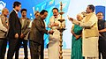 The Minister of State for AYUSH (Independent Charge), Shri Shripad Yesso Naik lighting the lamp at the inauguration of the 47th International Film Festival of India (IFFI-2016), in Panaji, Goa.jpg
