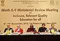 The Minister of State for Human Resource Development, Dr. Shashi Tharoor at the inaugural ceremony of E9 Ministerial Review Meeting, in New Delhi on November 09, 2012.jpg