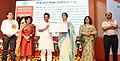 The Minister of State for Human Resource Development, Shri Upendra Kushwaha presenting the CBSE Teachers Award 2017-18, at a function, in New Delhi (2).JPG