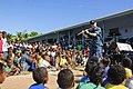 The Pacific Fleet Band entertains children in Savusavu, Fiji, during Pacific Partnership 2015 150612-N-HE318-060.jpg