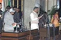 The President Dr.A.P.J.Abdul Kalam administering the Oath (Minister of State) to Shri Dinsha J.Patel, in New Delhi on January 29,2006.jpg