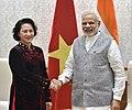 The President of the National Assembly of Vietnam, Mrs. Nguyen Thi Kim Ngan calling on the Prime Minister, Shri Narendra Modi, in New Delhi on December 09, 2016.jpg