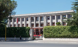 Presidential Palace, Tirana cultural heritage monument of Albania
