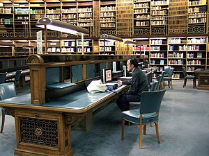British Museum Reading Room - The reading desks