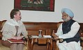 The Secretary of State for Foreign and Commonwealth Affairs, United Kingdom, Ms Margaret Beckett calls on the Prime Minister, Dr. Manmohan Singh in New Delhi on November 02, 2006.jpg