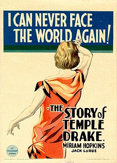 <i>The Story of Temple Drake</i> 1933 film by Stephen Roberts