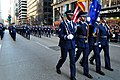 The U.S. Air Force Honor Guard Colors Team leads ceremonial guardsmen as they march in the 86th Annual Macy's Thanksgiving Day Parade in New York, N.Y., on Nov 121122-F-OR567-754.jpg