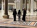 The Umayyad Mosque, Women in Veils, Damascus, Syria.jpg