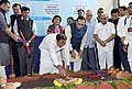 The Vice President, Shri M. Venkaiah Naidu performing Bhoomi Poojan for the four-laning of NH-571, in Bhavnagar, Gujarat.JPG