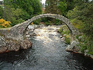 Muckle Spate (1829) - The old bridge at Carrbridge