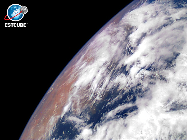 The first image of the Earth, taken by ESTCube-1 nanosatellite.