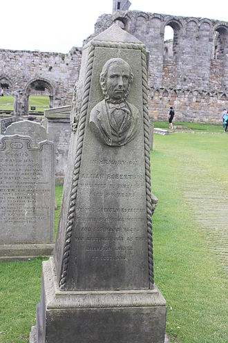 Allan Robertson - The grave of Allan Robertson, St Andrews Cathedral churchyard