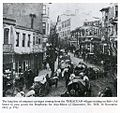 The long line of emigrant carriages coming from the THRACEAN villages waiting on Bab-i Ali Street to pass across the Bosphorus for Asia Minor (1912).JPG