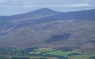 Mount Keen - Image: The view into Glen Esk, From West Knock geograph.org.uk 566327
