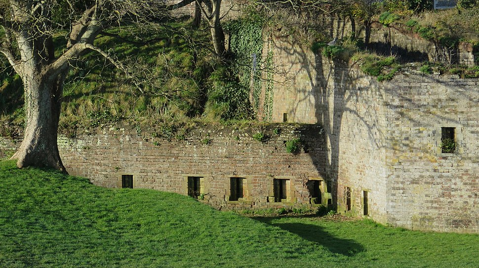 The walls of Sandown Barrack Battery