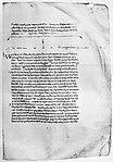"""Der Anfang des """"Theages"""" in der ältesten erhaltenen mittelalterlichen Handschrift, dem 895 geschriebenen """"Codex Clarkianus"""" (Oxford, Bodleian Library, Clarke 39)"""