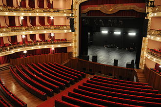 Theatre Circo - The interior of the theatre, including grande stage and three-storey stalls